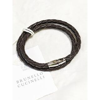 BRUNELLO CUCINELLI - ブルネロクチネリ 二連 レザー ブレスレット