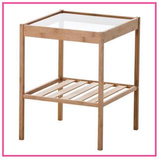 【即日・翌日発送】IKEA NESNA ネスナ☆サイドテーブル ガラステーブル(コーヒーテーブル/サイドテーブル)