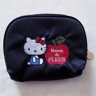 Maison de FLEUR - 新品未使用☆ メゾンドフルール キティ コラボ ポーチ ティッシュケース 黒