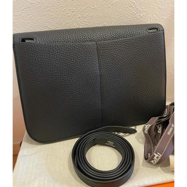 Hermes(エルメス)のHERMES エルメス アルザン 25 ブラック シルバー金具 レディースのバッグ(ショルダーバッグ)の商品写真