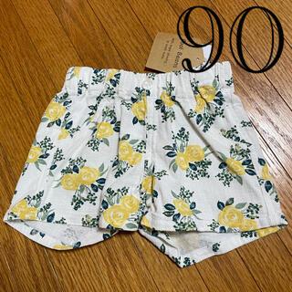 しまむら - 【新品タグ付き】しまむら 花柄ショートパンツ 90サイズ