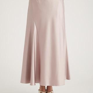 FRAY I.D - 【美品】サイズ1  ピンク エンボスサテンナロースカート