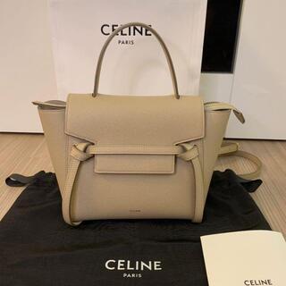 celine - CELINE セリーヌ ベルトバッグ ナノ ライトトープ