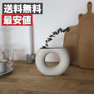 【最安値】ドーナツ型雑貨フラワーベース 花瓶 北欧 おしゃれ 雑貨 大人気