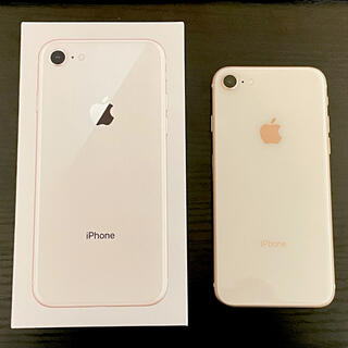 アイフォーン(iPhone)の【美品】iPhone8 64GB ゴールド(スマートフォン本体)