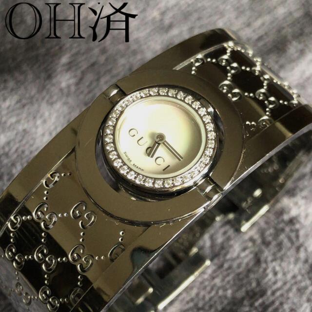 Gucci(グッチ)のOH済 グッチGUCCH/トワールバングル/レディース 腕時計 レディースのファッション小物(腕時計)の商品写真