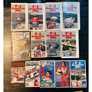 F1 アイルトンセナ プロスト VHSビデオ 13本セット(モータースポーツ)