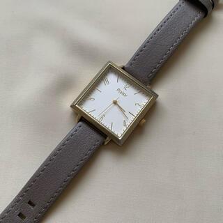 Plaisir/レディース腕時計(グレージュ)