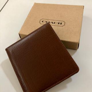 COACH - COACH 二つ折り財布 コーチ ブラウン メンズ