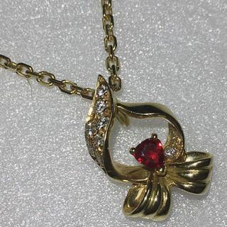GIVENCHY - GIVENCHY ジバンシー k18 18金 ルビー ダイヤモンドネックレス