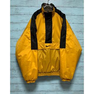 ナイキ(NIKE)のナイキ 銀タグ 刺繍ロゴ ハーフジップ アノラック イエロー 黄色(マウンテンパーカー)