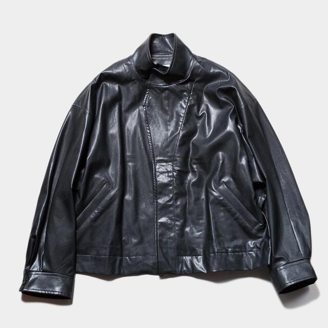 SUNSEA(サンシー)のSTEIN OVER SLEEVE FAKE LEATHER JACKET メンズのジャケット/アウター(レザージャケット)の商品写真