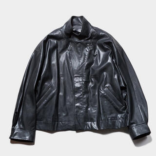 SUNSEA - STEIN OVER SLEEVE FAKE LEATHER JACKET