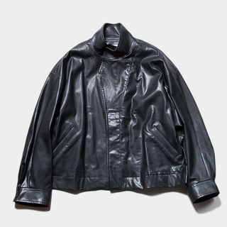 STEIN OVER SLEEVE FAKE LEATHER JACKET