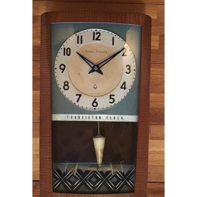 SEIKO(セイコー)の古いトランジスタ掛時計 セイコー・ソノーラ SEIKO 柱時計 レトロ  インテリア/住まい/日用品のインテリア小物(掛時計/柱時計)の商品写真