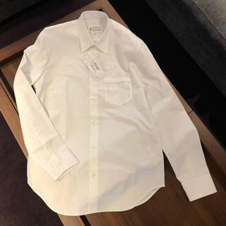 Maison Martin Margiela - 【約5万・新品】メゾン マルジェラ シャツ40(ホワイト・胸ポケット加工)