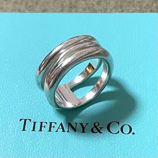 Tiffany & Co. - ティファニー シルバー リング 3連 ウェーブ スターリングシルバー 925