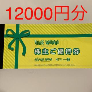 ヴィレッジヴァンガード 株主優待券 1000円×12枚 12000円分