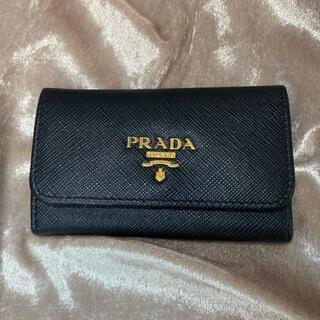 PRADA - 【美品】プラダ 6連キーケース 黒 ブラック 10038