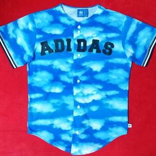 adidas - adidas ビックロゴ タイダイ ベースボールシャツ ゲームシャツ 即購入可