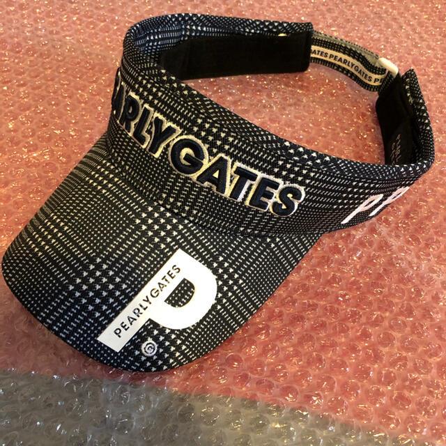 PEARLY GATES(パーリーゲイツ)のパーリーゲイツ サンバイザー チェック柄 スポーツ/アウトドアのゴルフ(ウエア)の商品写真