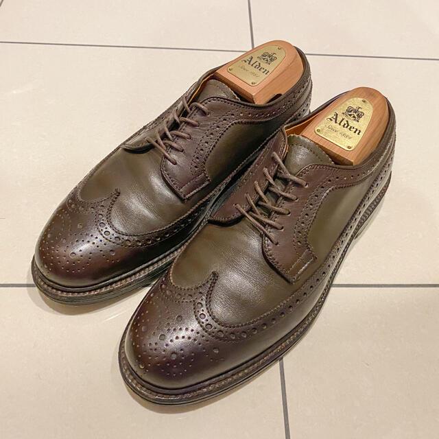Alden(オールデン)の【着用10回程】ALDEN 97573 6.5D カーフ ブラウン メンズの靴/シューズ(ドレス/ビジネス)の商品写真