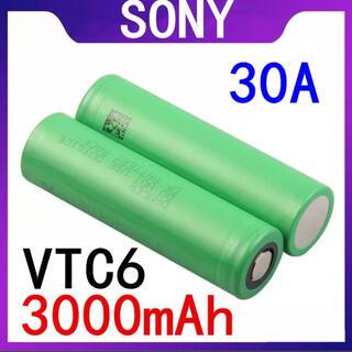 ソニー(SONY)の新品 Vape vtc6 18650 リチウムイオンバッテリー フラットトップ(タバコグッズ)