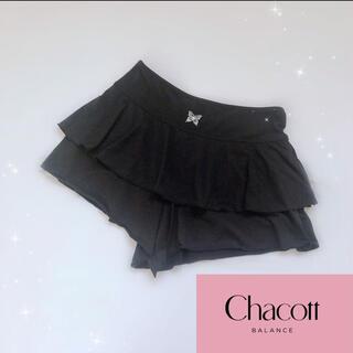 CHACOTT - 【美品】チャコット フリルショートパンツ 黒 ヨガ ダンス バレエ フィットネス