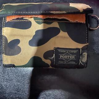 アベイシングエイプ(A BATHING APE)のbape porter 財布(折り財布)