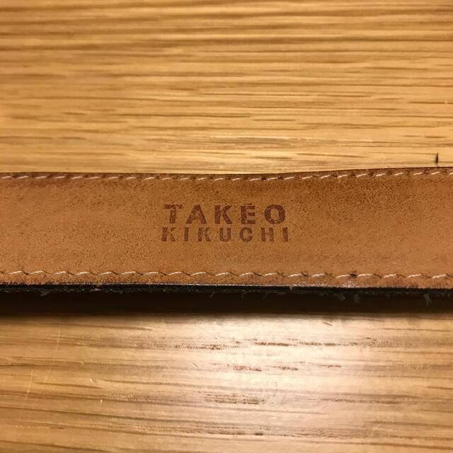 TAKEO KIKUCHI(タケオキクチ)のキクチ タケオ 革ベルト メンズのファッション小物(ベルト)の商品写真
