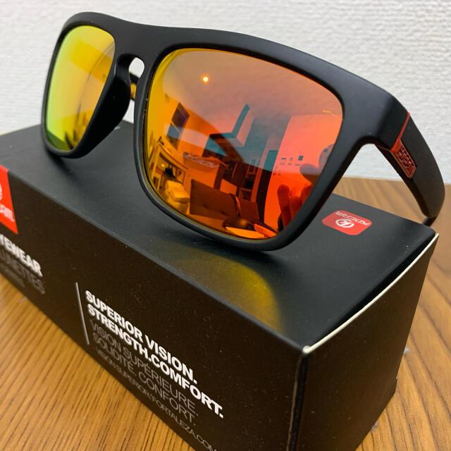 新品未使用♪kdeam最新偏光レンズサングラス オレンジミラーレンズ 即購入可! メンズのファッション小物(サングラス/メガネ)の商品写真