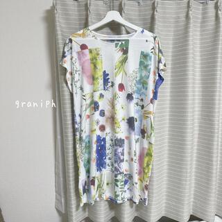 グラニフ(Graniph)のgraniph 花柄 Tシャツ(Tシャツ(半袖/袖なし))