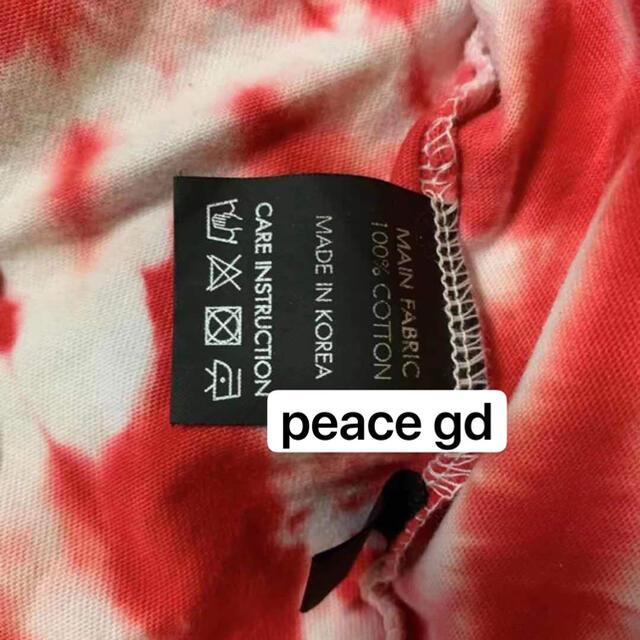 PEACEMINUSONE(ピースマイナスワン)のpeaceminusone 赤タイダイ  メンズのトップス(Tシャツ/カットソー(半袖/袖なし))の商品写真