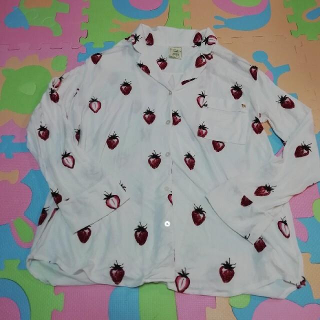 gelato pique(ジェラートピケ)のストロベリーシャツ レディースのルームウェア/パジャマ(ルームウェア)の商品写真