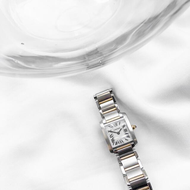 Cartier(カルティエ)の•【仕上済】カルティエ フランセーズ SM コンビ レディース 腕時計 レディースのファッション小物(腕時計)の商品写真
