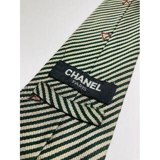CHANEL - CHANEL シャネル/SILK/絹 100%/イタリア製/ビジネス/ネクタイ