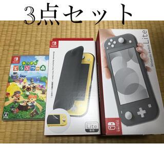 Nintendo Switch - 任天堂スイッチライト+ケース+どう森ソフト