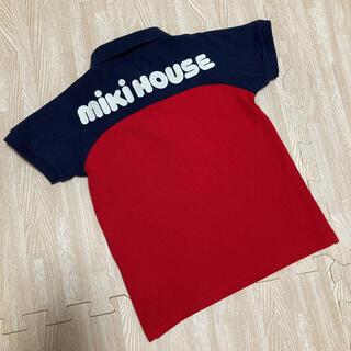 mikihouse - 現行品☆ミキハウス ポロシャツ バッグロゴ レッド ネイビー 100