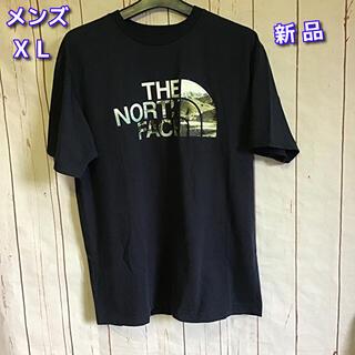 THE NORTH FACE - The NORTH FACE 半袖Tシャツ XL ネイビー×マチュピチュ ロゴ