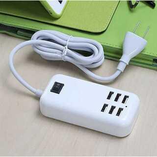 新品未使用 1.5m 延長ケーブル 6口コンセント USBハブ タブレット