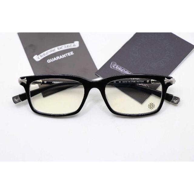 Chrome Hearts(クロムハーツ)の新品 メガネフレーム 伊達メガネ クロムハーツ FUN HATCH 黒 メンズのファッション小物(サングラス/メガネ)の商品写真