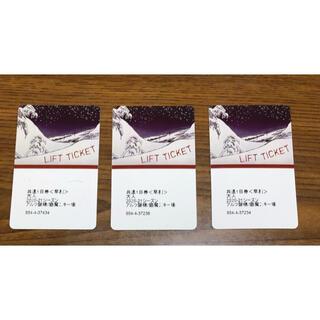 猫摩 1日リフト券(大人)×3枚 2021年スキー場営業終了まで使用可(ウィンタースポーツ)