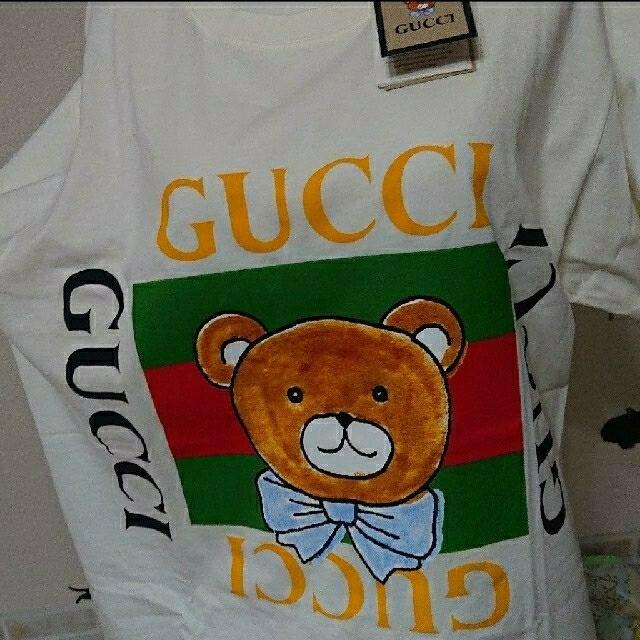 Gucci(グッチ)のGUCCI グッチ KAI カイ 新品 XS テディベア ロゴ Tシャツ EXO メンズのトップス(Tシャツ/カットソー(半袖/袖なし))の商品写真