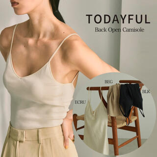 TODAYFUL - ★人気商品★TODAYFUL Back Open Camisole エクリュ