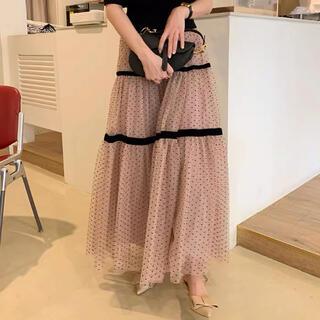 Lily Brown - ドットシースルースカート