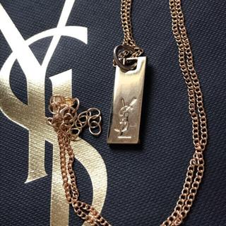 サンローラン(Saint Laurent)のイヴサンローラン  ゴールドカラー プレート ネックレス ysl  BTS テテ(ネックレス)