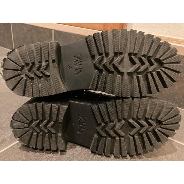 ZARA(ザラ)のzara  サイドゴアブーツ 38 数回使用 レディースの靴/シューズ(ブーツ)の商品写真