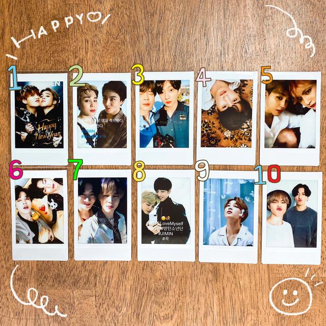 防弾少年団(BTS)(ボウダンショウネンダン)のBTS   グクミン スローガン ジミン ジョングク チェキ エンタメ/ホビーのCD(K-POP/アジア)の商品写真