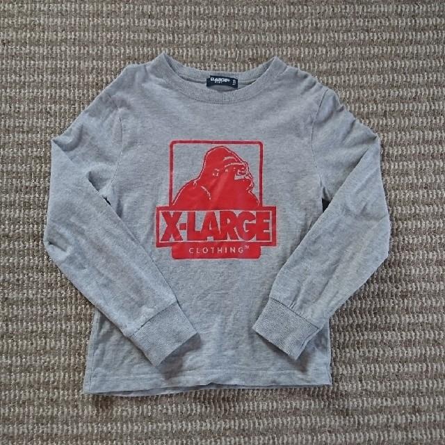 XLARGE(エクストララージ)のX-LARGE★グレーロンT★120 キッズ/ベビー/マタニティのキッズ服男の子用(90cm~)(Tシャツ/カットソー)の商品写真