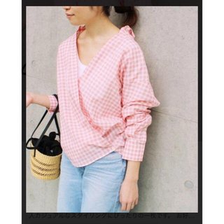IENA - イエナ ギンガムチェックシャツ カシュクールシャツ